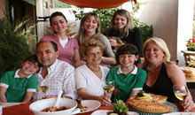 The family at Tal-Familja Restaurant